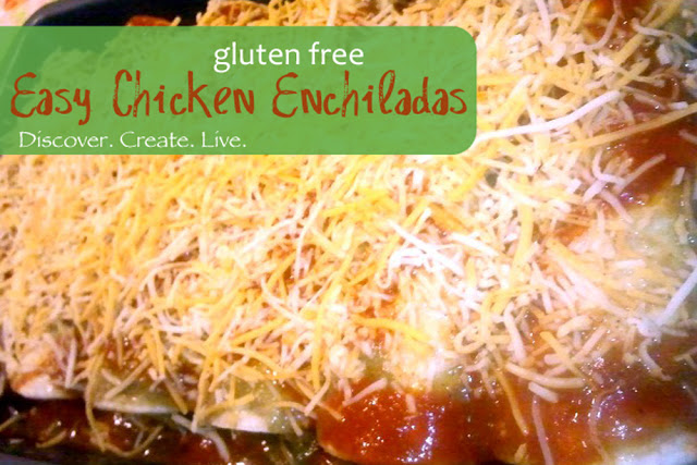 Simple Chicken Enchilades