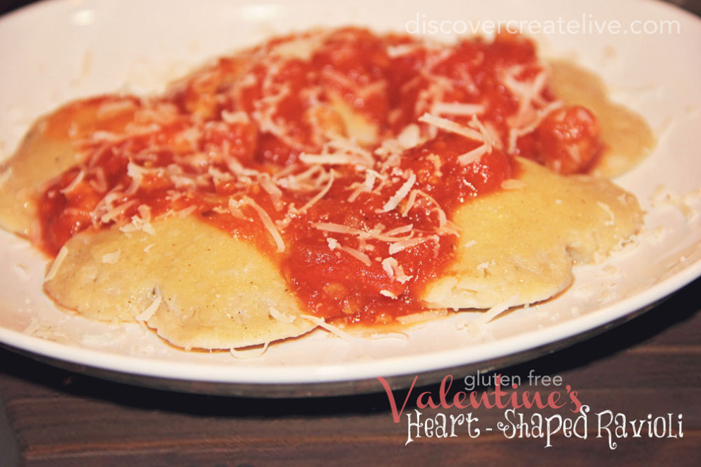 """Valentine's"" Heart-Shaped Ravioli"