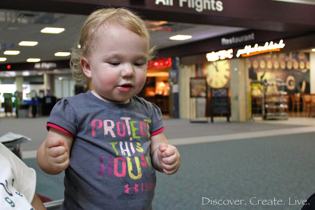 Hanging out at the airport... this little girl wanted some more starbursts!