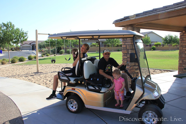 We took the golf cart just a short distance to the part