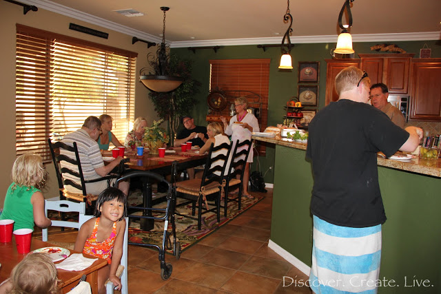 We had a lovely evening at Wes's aunts as well!