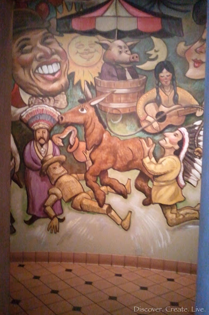 interesting mural at Abuela's restaraunt