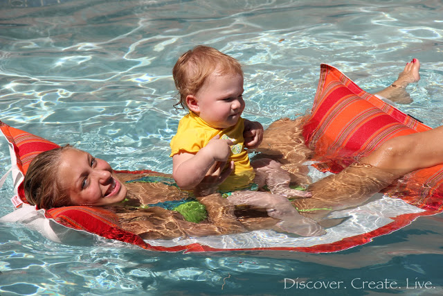 swimming with Aunt Holly