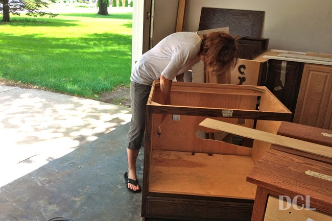 Prepping, Deglossing, & Painting Our Cabinets | Discover ...