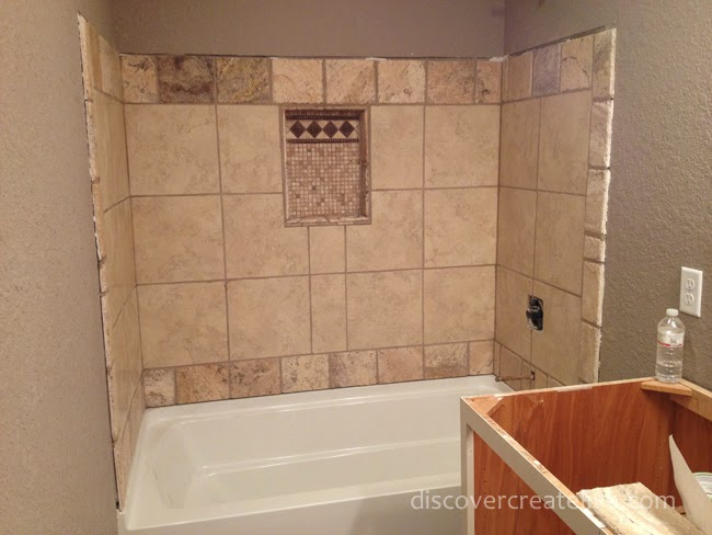 Shower Tub Tile Work : Time for tile durock prep installation and grout