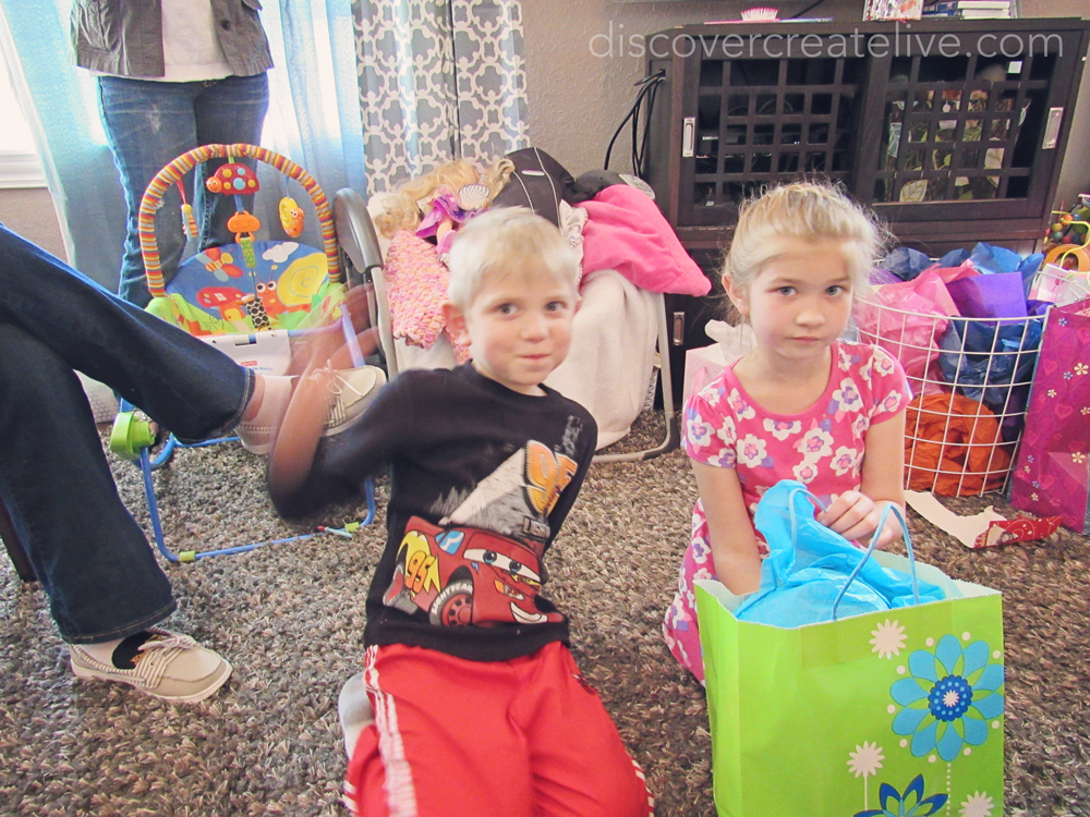 cousins are great for helping open presents