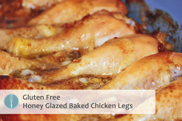 {Baked} Honey Glazed Chicken Legs