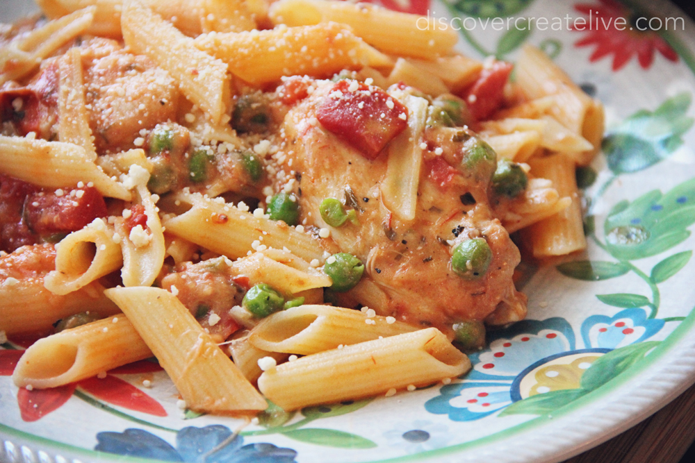 Gluten Free Fire Roasted Tomato And Parmesan Chicken Penne