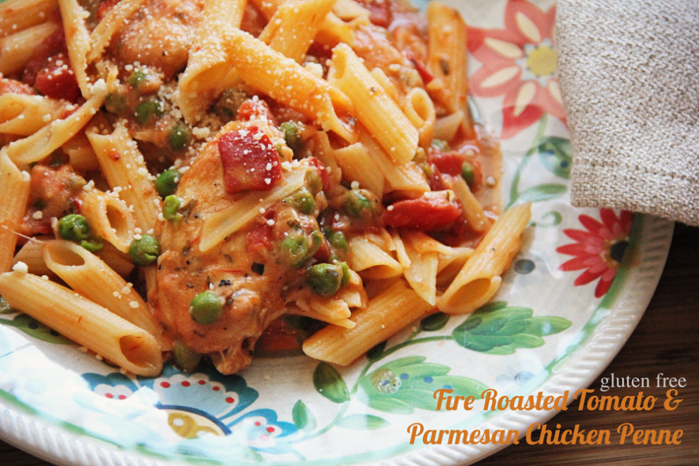 Fire Roasted Tomato and Parmesan Chicken Penne