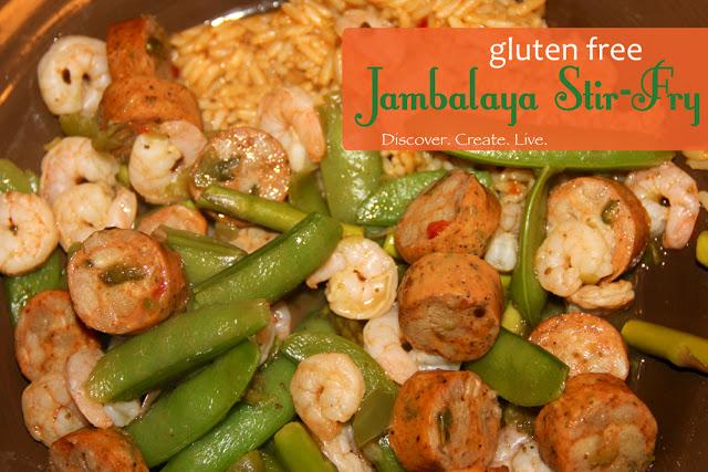 {Shrimp and Sausage} Jambalaya Stir Fry