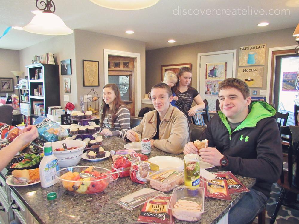 gluten free sandwich station